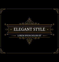 vintage luxury logo template vector image