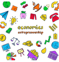 Colorful economics infographic concept vector