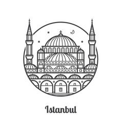 travel istanbul icon vector image vector image