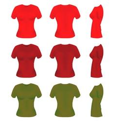 women t-shirt templates vector image vector image