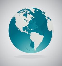 world globe vector image
