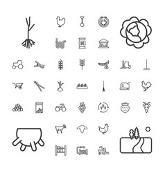 37 agriculture icons vector