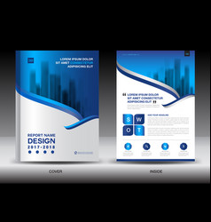 Annual report brochure flyer template white cover vector