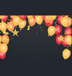 balloons happy birthday colorful balloon sparkles vector image