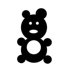 bear baby toy vector image