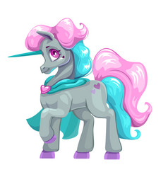Beautiful cartoon unicorn vector