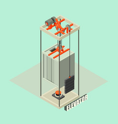 big building elevator concept background vector image