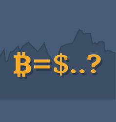 Bitcoin cash price forecast concept vector