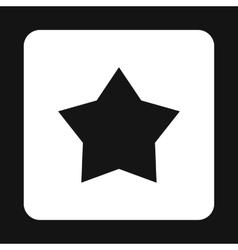 Black celestial star icon simple style vector