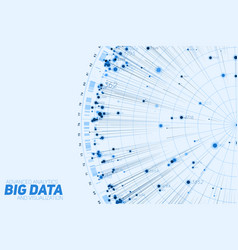 Blue big data circular visualization futuristic vector