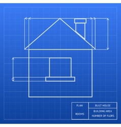 Blueprint of a house design vector image