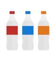 bottle water set bottle in flat style water vector image