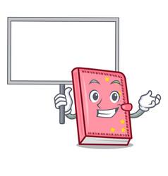 Bring board diary character cartoon style vector