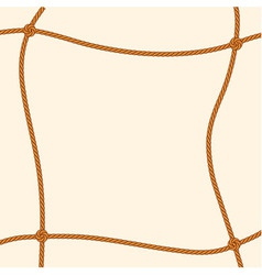 Brown rope square frame vector image