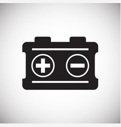 Car battery on white background for graphic and vector