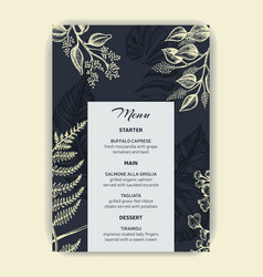 card for wedding invitation vector image