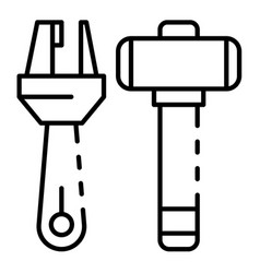 carpenter tool icon outline style vector image
