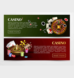 casino poker web banners templates vector image