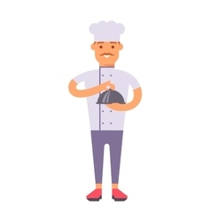 Chef standing man vector