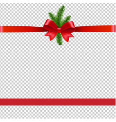 christmas background with xmas tree transparent vector image
