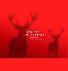 Christmas new year red deer animal greeting card vector