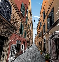 Cityscape Street sketch vector