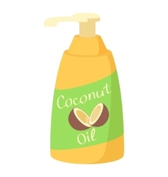 Coconut oil icon cartoon style vector
