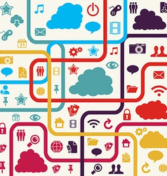 Colorful Social media background vector