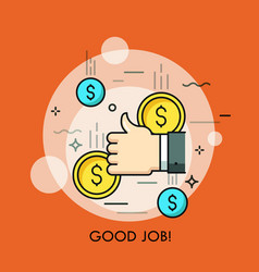 Concept of good job approval successful vector