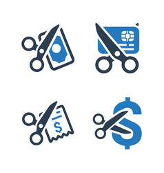 Cost cutting icons vector