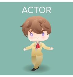 Cute cartoon or mascot actor for introducing vector