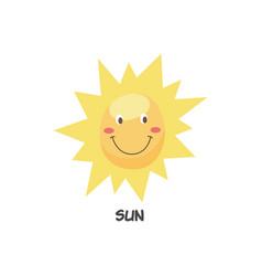 cute happy smiling sun symbol flat cartoon vector image