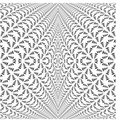 Design symmetric lacy diagonal warped pattern vector