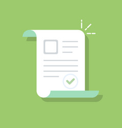 documents icon confirmed or approved document vector image