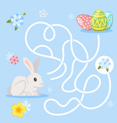 easter board game template vector image