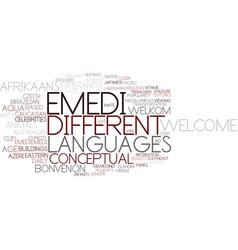 Emedi word cloud concept vector