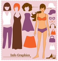 fashion info graphics vector image