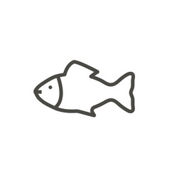 fish icon line symbol isolated trendy fla vector image