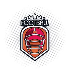 football helmet icon vector image