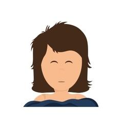 Girl sleeping icon resting and sleep design vector image