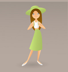 Girl teenager schoolgirl student vector