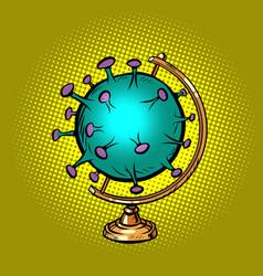 globe international coronavirus green virus vector image