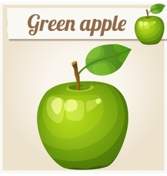 Green apple cartoon icon series food vector