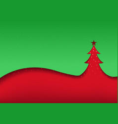 green-red abstract christmas background vector image