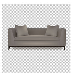 grey sofa bed with isolated transparent background vector image