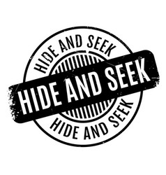 Hide and seek rubber stamp vector