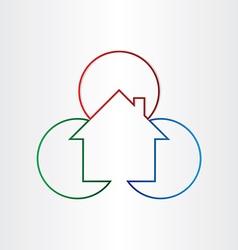 house home real estate icon design vector image