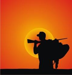Hunter Silhouette vector