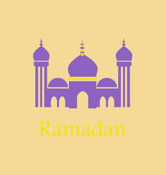 Icon in a flat style ramadan mosque vector