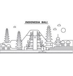 indonesia bali architecture line skyline vector image